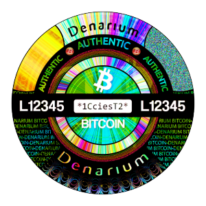 Denarium Bitcoin Physical Bitcoin hologram