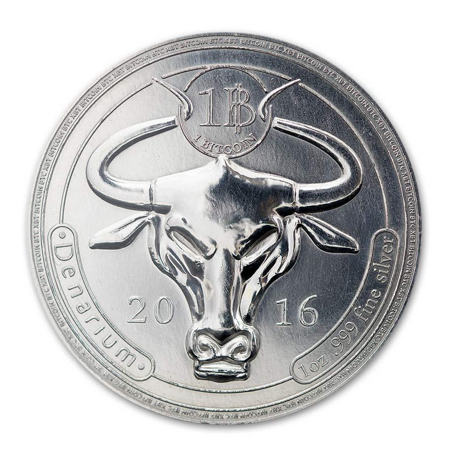 Denarium 1 BTC silver physical bitcoin