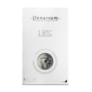 Denarium 1 BTC silver physical bitcoin package