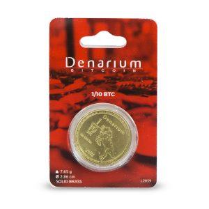 Denarium 1 per 10 BTC Physical Bitcoin packed
