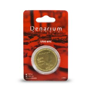 Denarium 1 per 100 BTC Physical Bitcoin packed