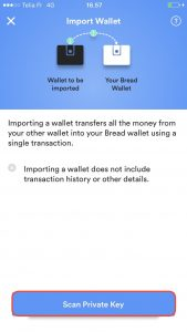 Breadwallet import private key