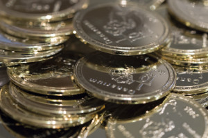 Denarium Gold Plated Physical Bitcoins