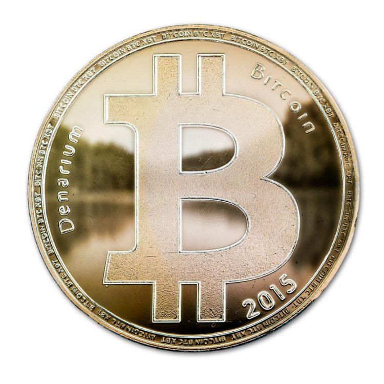 Custom Denarium Bitcoin Gold Plated