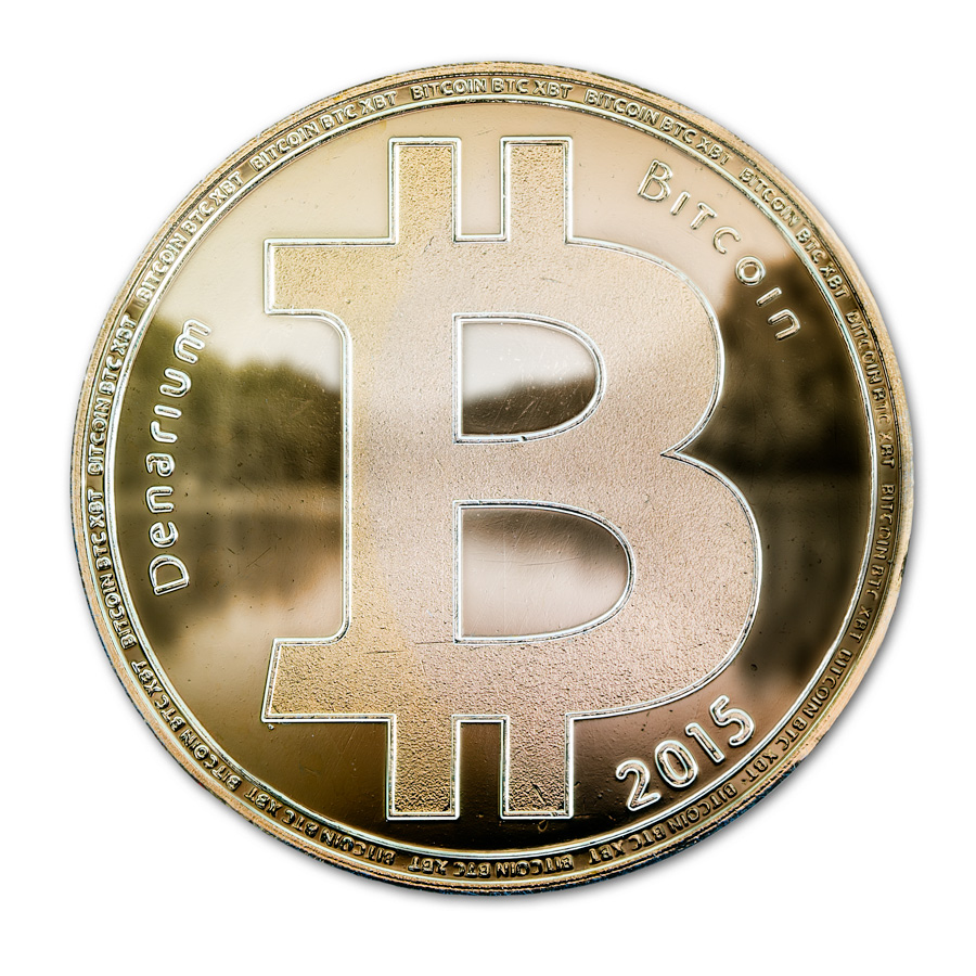 bitcoin coin, gold plated, coin wallet, Denarium, Custom BTC