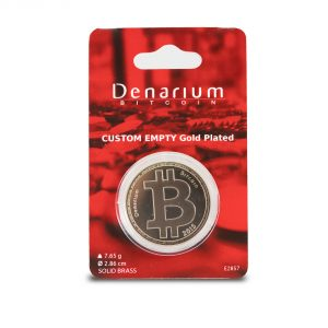 Denarium Custom 0 – 5 BTC Gold Plated packed