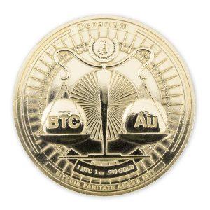Denarium 1 BTC Parity Gold Coin