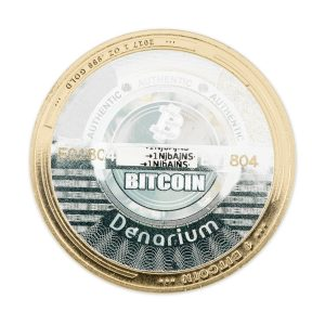 Denarium 1 BTC Parity Gold Coin back