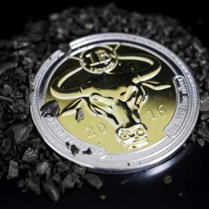 Denarium Physical Bitcoin 1 BTC Silver Golden Edition