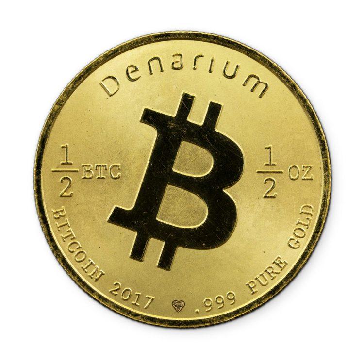 Denarium 1per2 BTC Gold