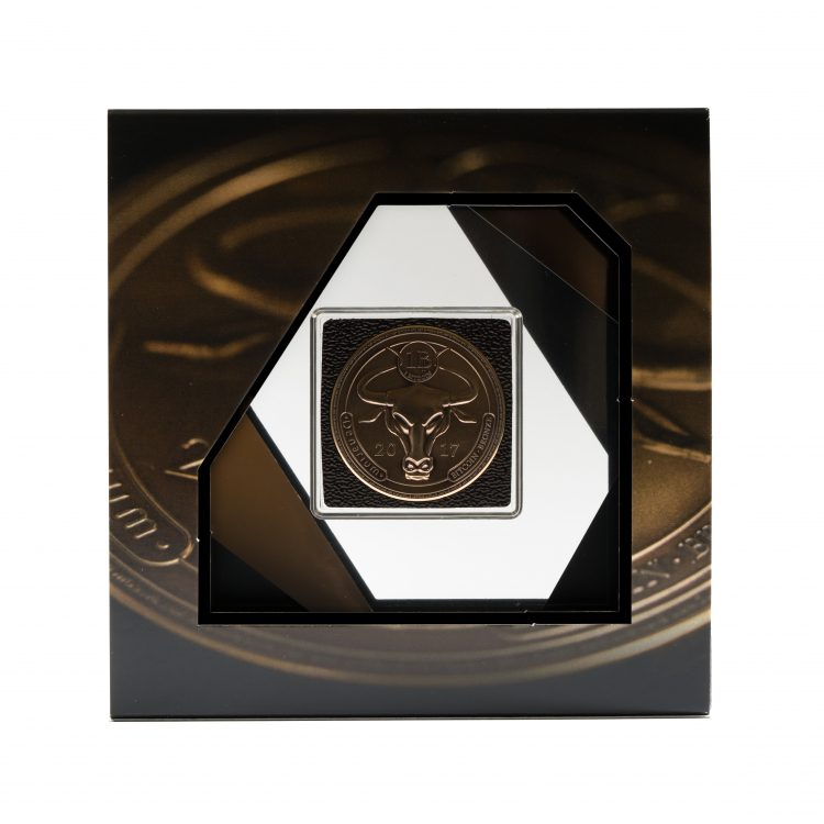 Denarium 1 BTC Patinated Bronze package front