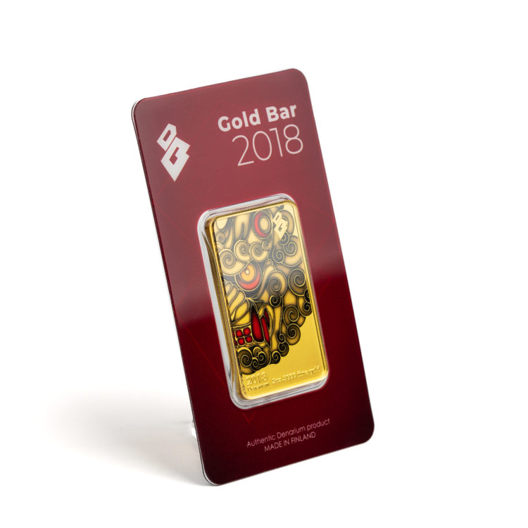 Denarium Gold Bar 2018 Barcard