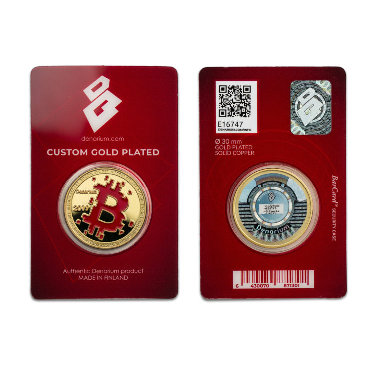 Denarium Custom Gold Plated 2019 Special Edition barcards