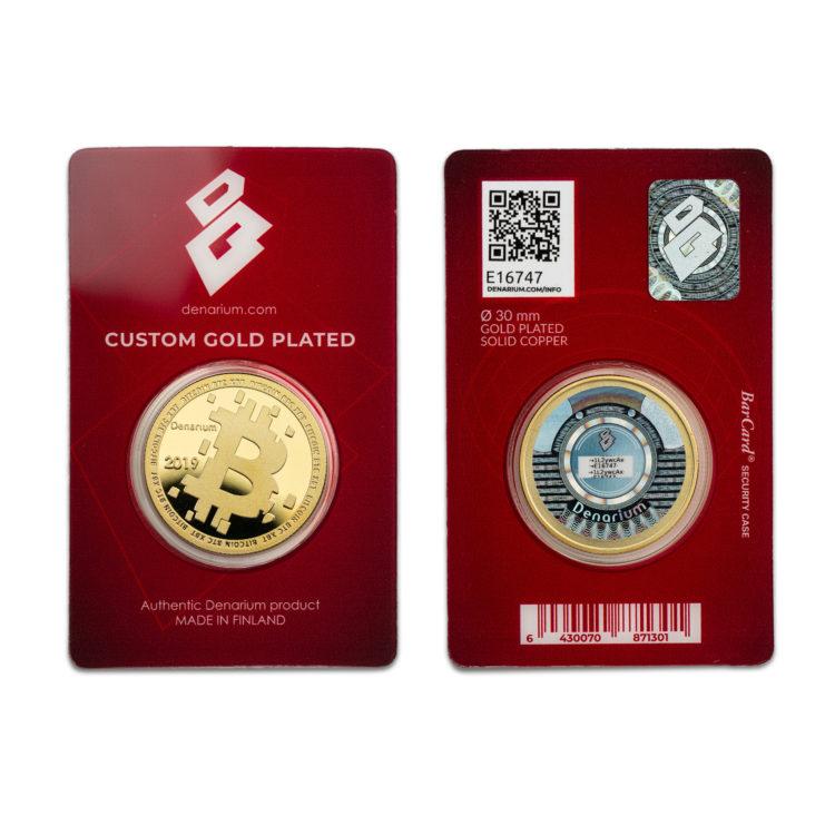 Denarium Custom Gold Plated 2019 barcards